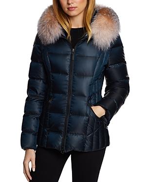 Dawn Levy Furs NIKKI SAGA FUR TRIM SHORT DOWN COAT