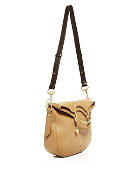 See by Chloé - Monroe Ring Handle Convertible Leather Shoulder Bag