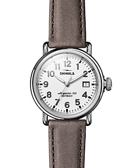 Shinola - The Runwell Heather Gray Leather Strap Watch, 36mm