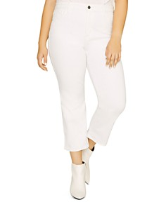 Sanctuary Curve - Modern High-Rise Straight-Leg Jeans in Angeleno White