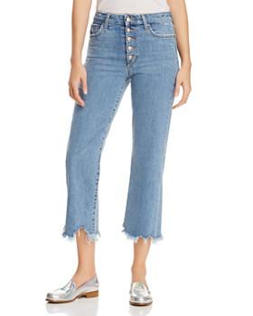Joe's Jeans - Wyatt Destroy Crop Wide-Leg Jeans in Tarah