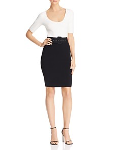 MILLY - Color-Blocked Sheath Dress