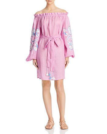 Eleven - Ali Embroidered Off-the-Shoulder Dress