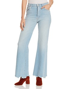 MOTHER - The Tomcat Roller Chewed-Hem Wide-Leg Jeans in Fresh Catch - 100% Exclusive