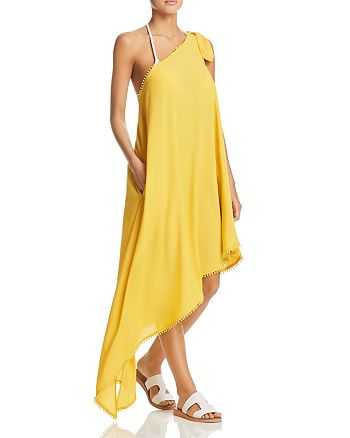 Red Carter - One-Shoulder Dress Swim Cover-Up