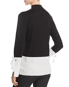 Calvin Klein - Tie-Sleeve Color-Block Sweater