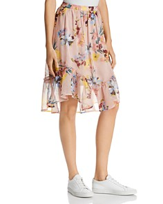 Band of Gypsies - Skye Floral-Print Midi Skirt
