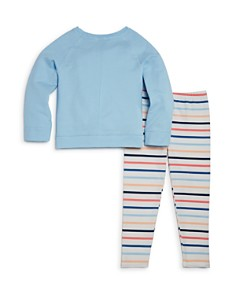 Splendid - Girls' Raglan Sweatshirt & Striped Leggings Set - Little Kid