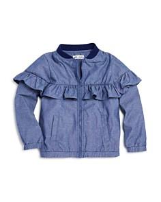 Mini Series - Girls' Ruffled Chambray Bomber Jacket, Little Kid - 100% Exclusive