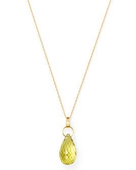 "Bloomingdale's - Briolette Lemon Citrine Pendant Necklace in 14K Yellow Gold, 18"" - 100% Exclusive"