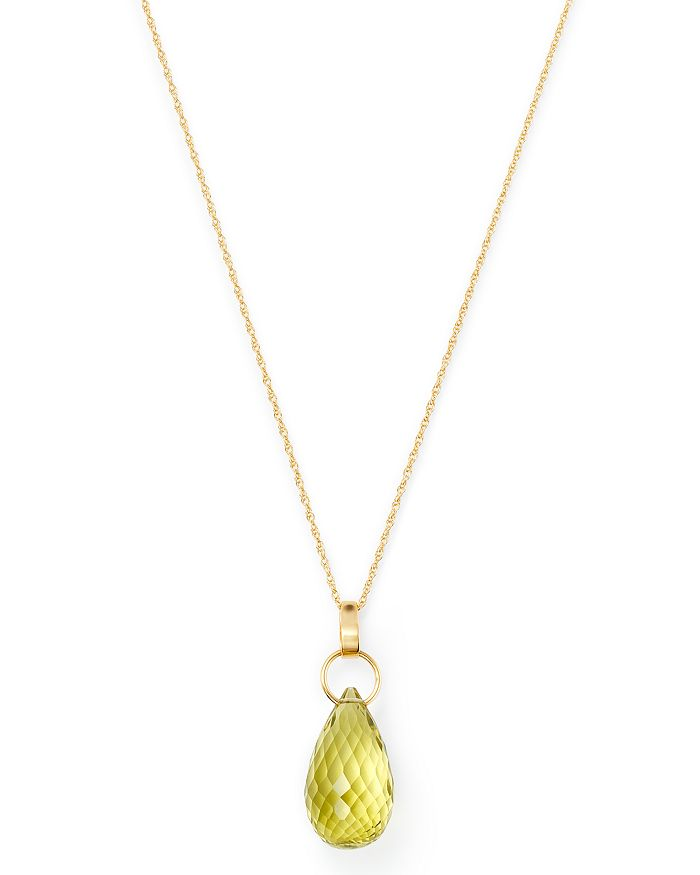 "Bloomingdale's - Briolette Lemon Citrine Pendant Necklace in 14K Yellow Gold, 18"" - 100% Exclusive"