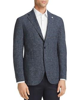 L.B.M - Washed Plaid Slim Fit Sport Coat