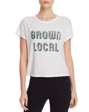 MICHELLE BY COMUNE Michelle By Comune Grown Local Graphic Tee in White
