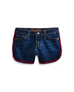 JOE'S - Girls' High-Rise Charlie Denim Shorts in Blue - Big Kid