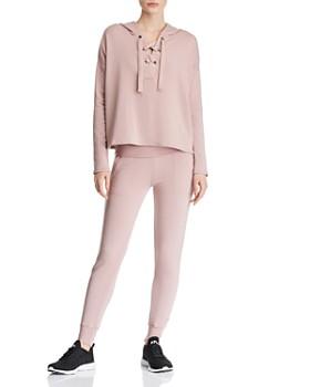 5543798891 Beyond Yoga - Beyond Yoga Lace-Up Sweatshirt & Fleece Sweatpants