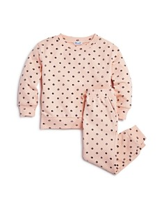 Splendid - Girls' Polka-Dot Sweatshirt & Jogger Pants - Little Kid