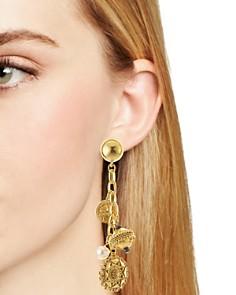 Oscar de la Renta - Bead Clip-On Drop Earrings