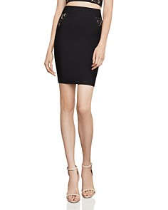 BCBGMAXAZRIA - Lace-Inset Pencil Skirt