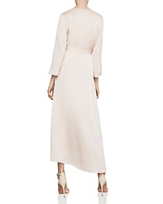 BCBGMAXAZRIA - Asymmetric Satin Wrap Dress
