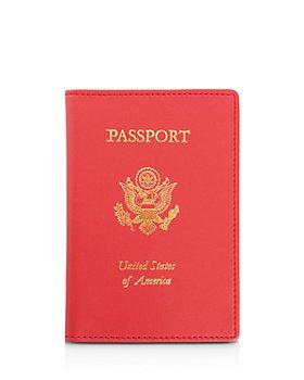 ROYCE New York - Leather RFID-Blocking Gold-Accented U.S. Passport Case