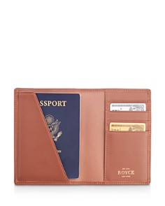 ROYCE New York - Leather RFID-Blocking Passport Case