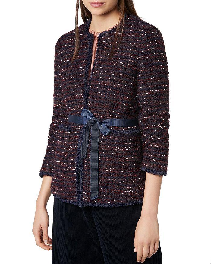 L.K.Bennett - Elaine Tie-Detail Tweed Jacket