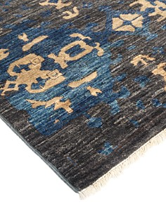 """Solo Rugs - Eclectic Ankara Hand-Knotted Area Rug, 3'0"""" x 8'4"""""""