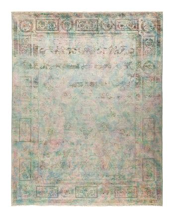 """Solo Rugs - Vibrance Collection Morganite Hand-Knotted Area Rug, 8'1"""" x 10'4"""""""