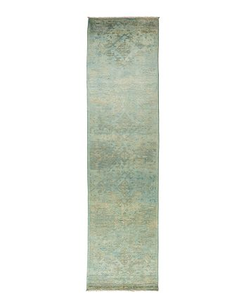 "Solo Rugs - Vibrance Collection Vita Hand-Knotted Area Rug, 3'2"" x 12'4"""
