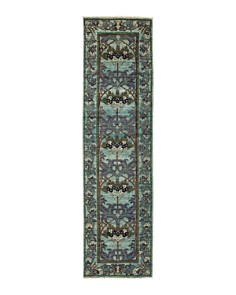 """Solo Rugs - Arts & Crafts Gailac Hand-Knotted Area Rug, 2'7"""" x 9'9"""""""