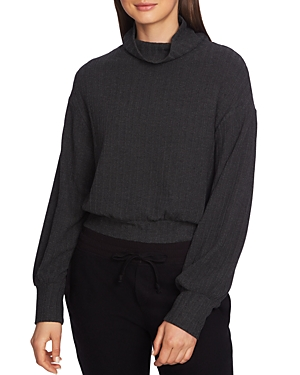 1.state Cropped Mock-Neck Sweater
