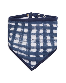 Aden and Anais - Boys' Waverly Plaid Bandana Bib - Baby