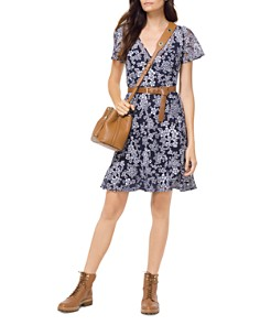 MICHAEL Michael Kors - Embroidered Floral A-Line Dress