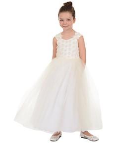 Badgley Mischka - Girls' 3-D Flower Dress - Little Kid