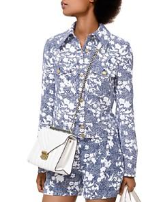 MICHAEL Michael Kors - Cropped Mixed Floral-Print Jacket