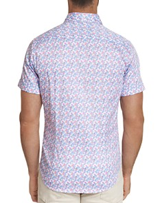 Robert Graham - Banner Short-Sleeve Pixel-Print Classic Fit Shirt