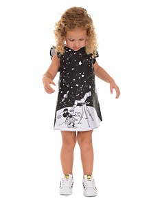 Pippa & Julie - Disney Girls' Mickey And Minnie Space A-Line Dress - Little Kid