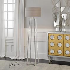 Uttermost - Keokee Polished Nickel Floor Lamp
