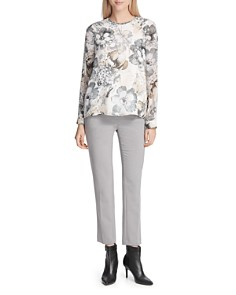 Calvin Klein - Ruched Floral Print Top