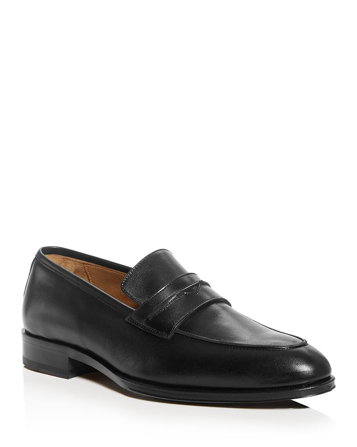 PASTORI - Men's Titus Leather Apron-Toe Penny Loafers