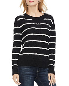 VINCE CAMUTO - Chenille Striped Sweater