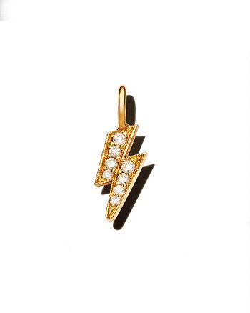 Zoë Chicco - 14K Yellow Gold Midi Bitty Diamond Lightning Bolt Charm