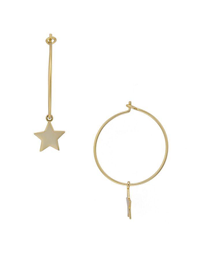 72d103b118dca Star Charm Hoop Earrings in 14K Gold-Plated Sterling Silver - 100% Exclusive