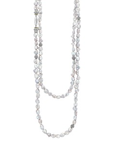 LAGOS - Sterling Silver Luna Keshi Pearl Double-Strand Necklace, 35""