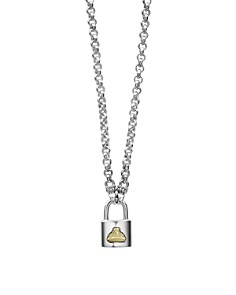 """LAGOS - Sterling Silver & 18K Yellow Gold Beloved Lock Pendant Necklace, 18"""""""