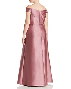 Adrianna Papell Plus - Mikado Off-the-Shoulder Gown
