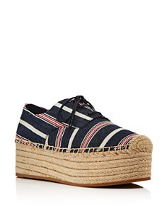 Tory Burch - Women's Florence Striped Espadrille Platform Sneakers