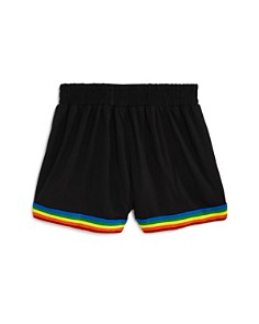 Flowers by Zoe - Girls' Rainbow-Trim Knit Track Shorts - Little Kid