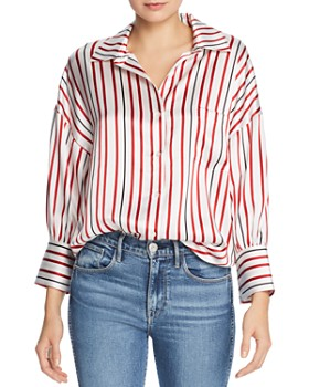 Anine Bing - Mia Striped Silk Shirt