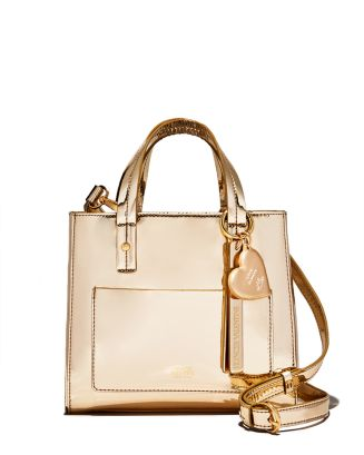 X Darcy Miller Chloe Small Metallic Satchel   100 Percents Exclusive by Frances Valentine